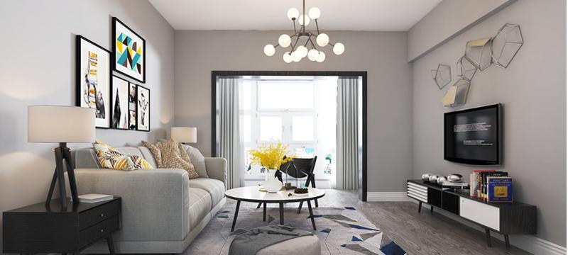 现代简约风格,客厅案例展示